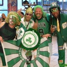Cetlics Superfans - Hip Hop Gino, Aztec, Guy with the Green Hair and Bob Marley